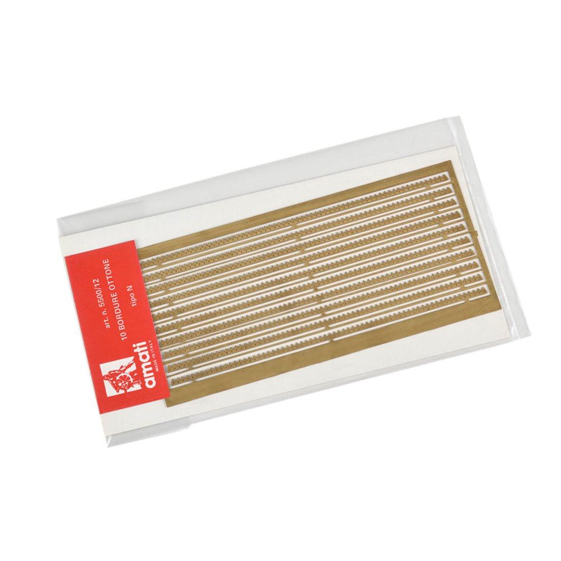 Bordures laiton type N photodécoupe (10 pcs-cm.13)