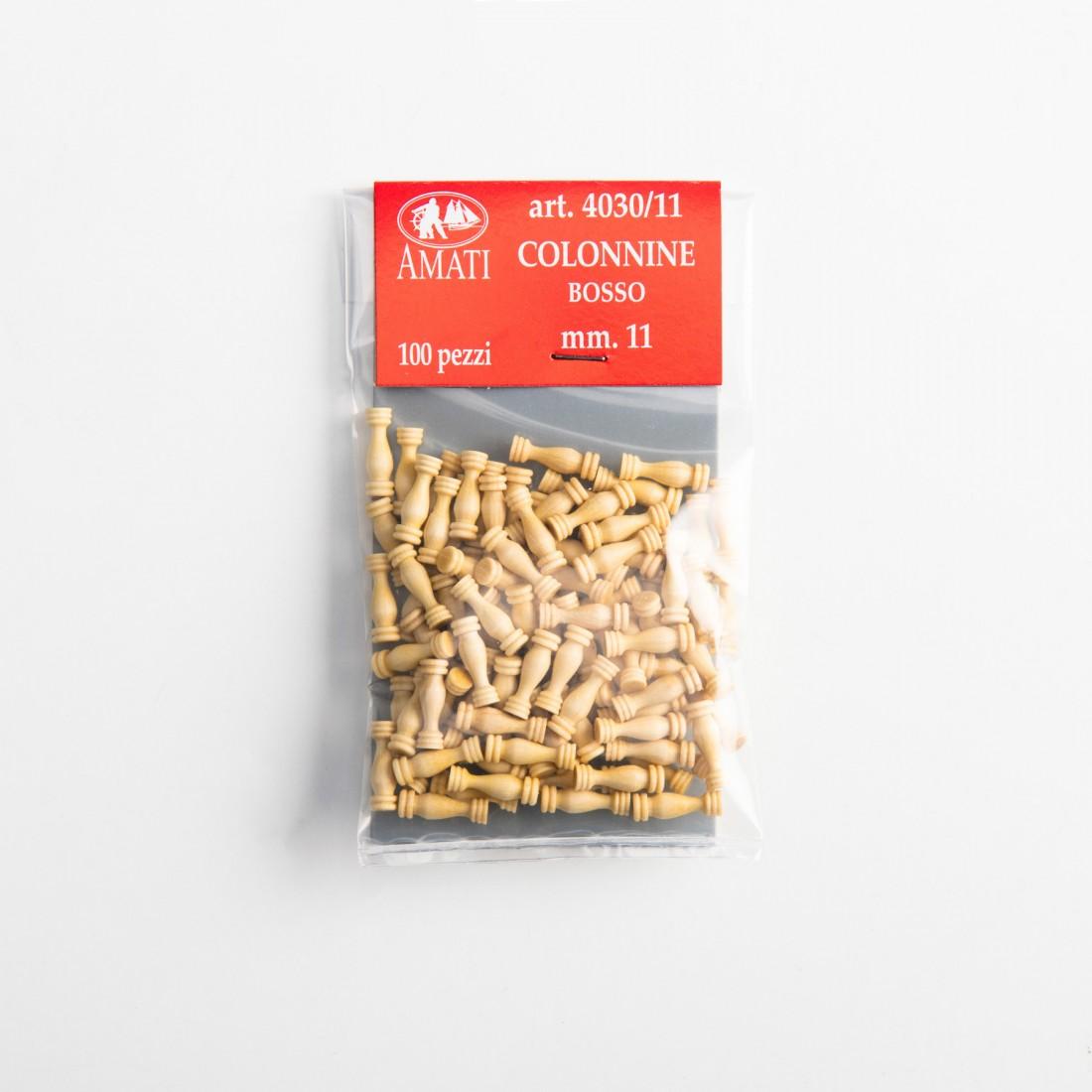 Puntales de madera de boj mm.11
