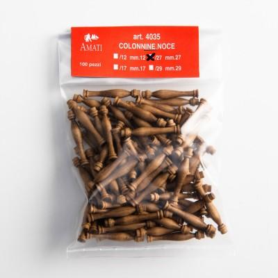 Walnut stanchions mm.27