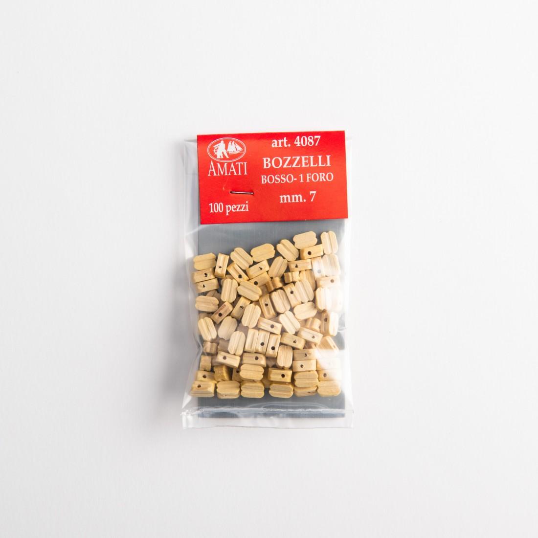 Bloques de madera de buey mm.7-1 agujero