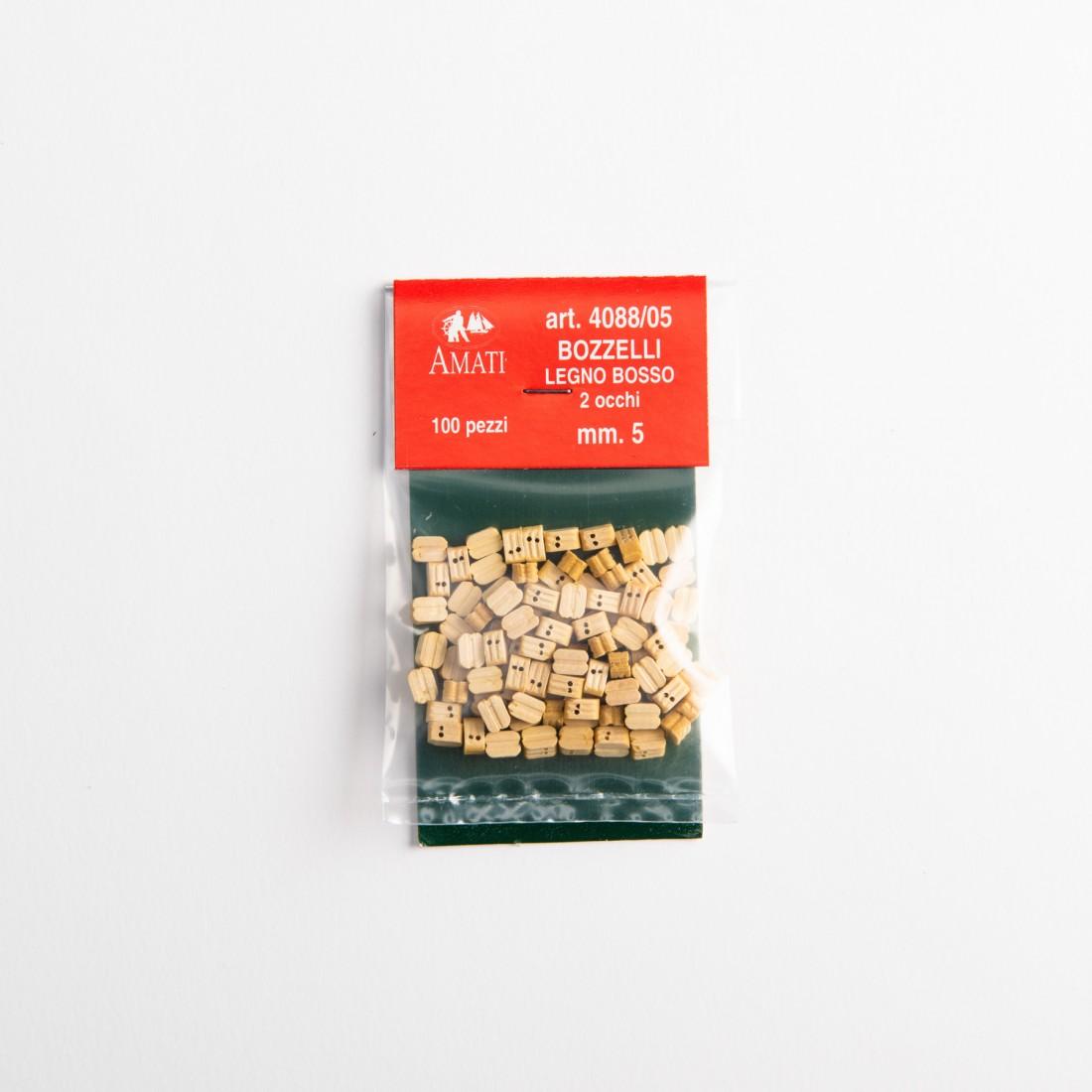 Bozzelli bosso mm.5  2 fori