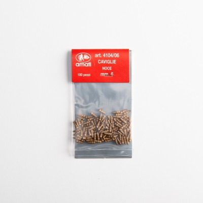 Walnut belaying pins mm.6