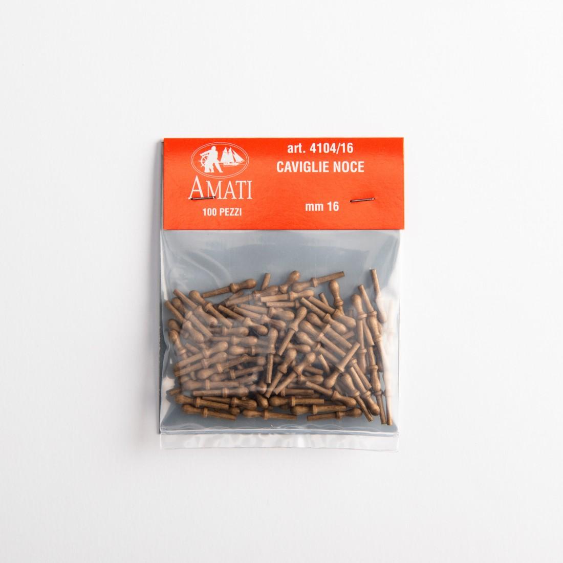 Walnut belaying pins mm.16