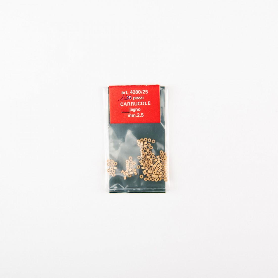 Poulies en bois mm.2,5