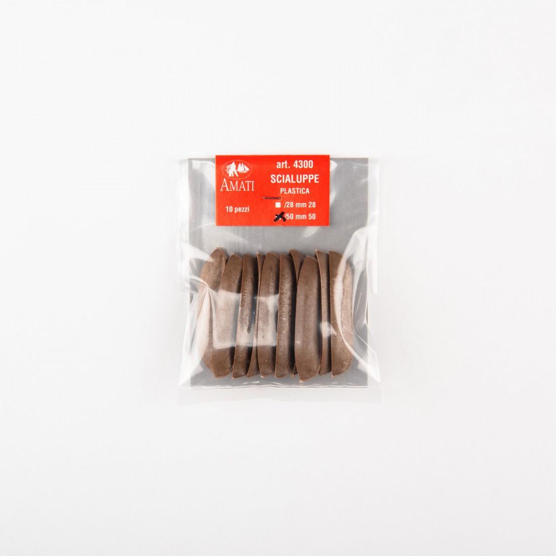 Chaloupes en plastique mm.50
