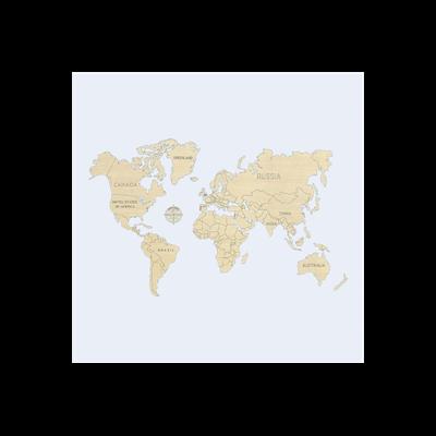 WORLD MAP M (NON VERNICIATA)