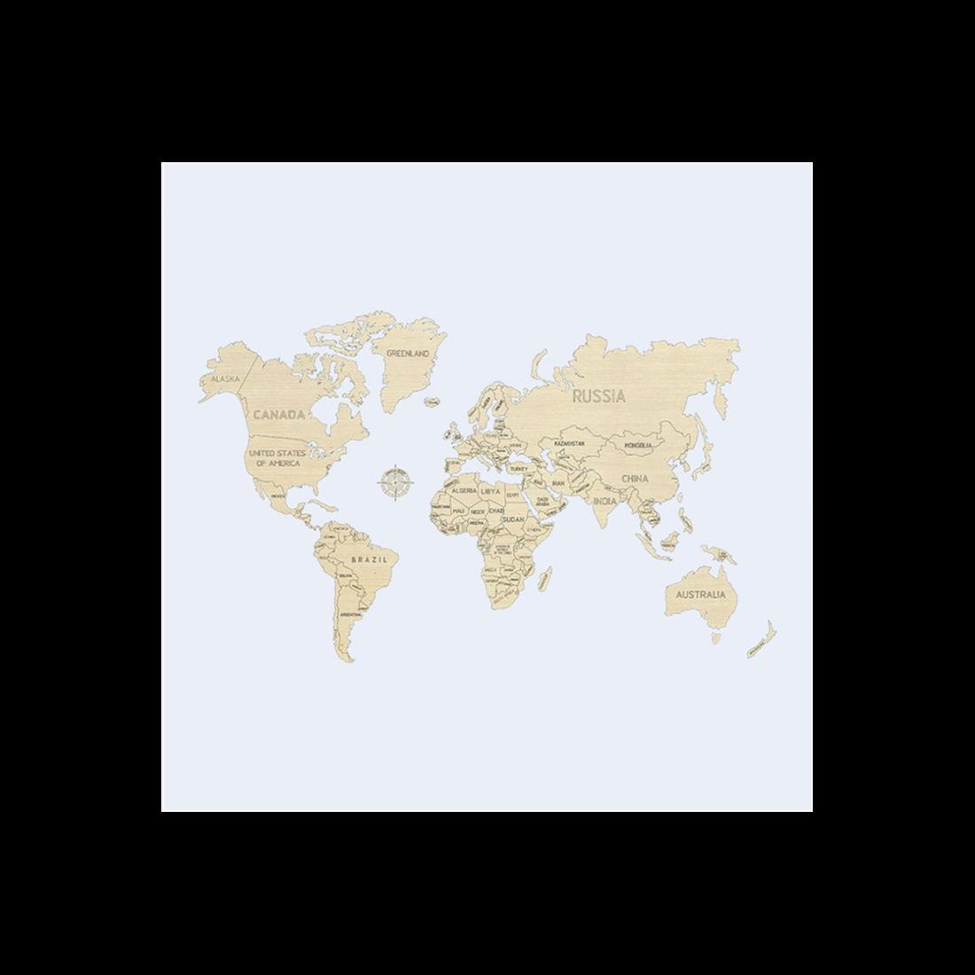 WORLD MAP L (NON VERNICIATA)