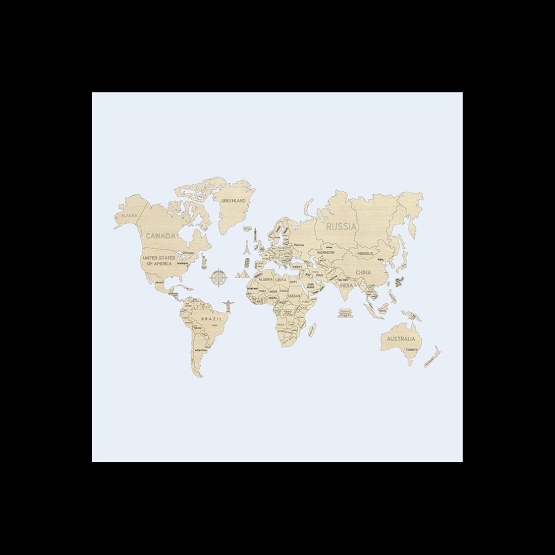 WORLD MAP XL (NON VERNICIATA)