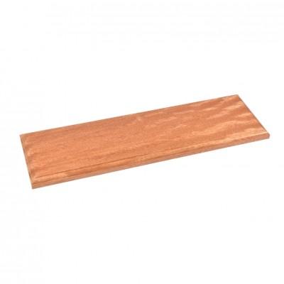 Wooden varnished baseboards...