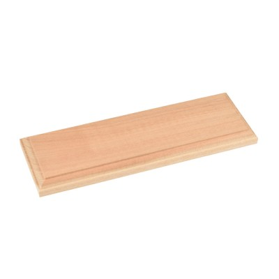 Natural wood baseboards...