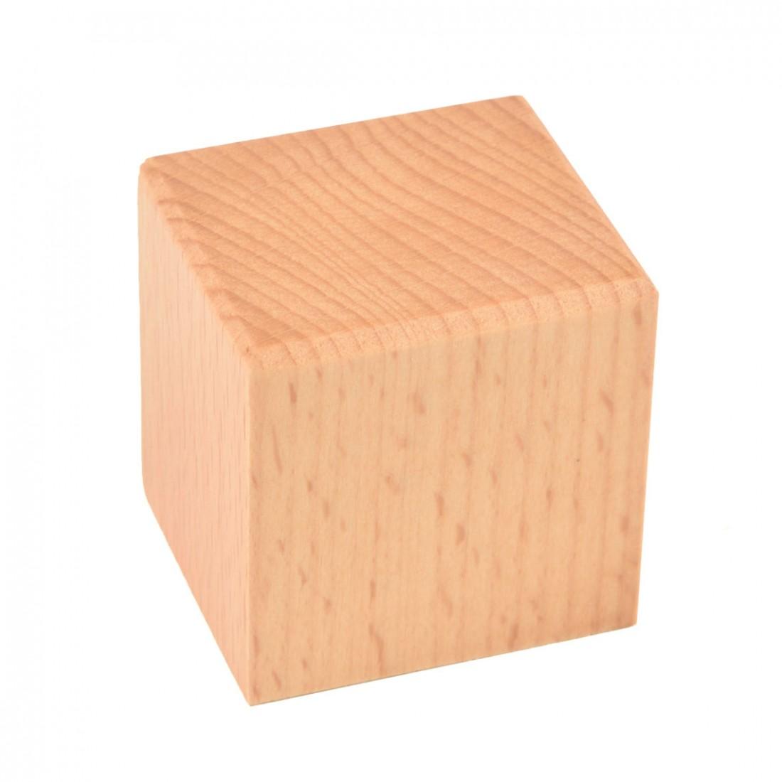 Base de columna de madera mm.45x40x45 barnizada