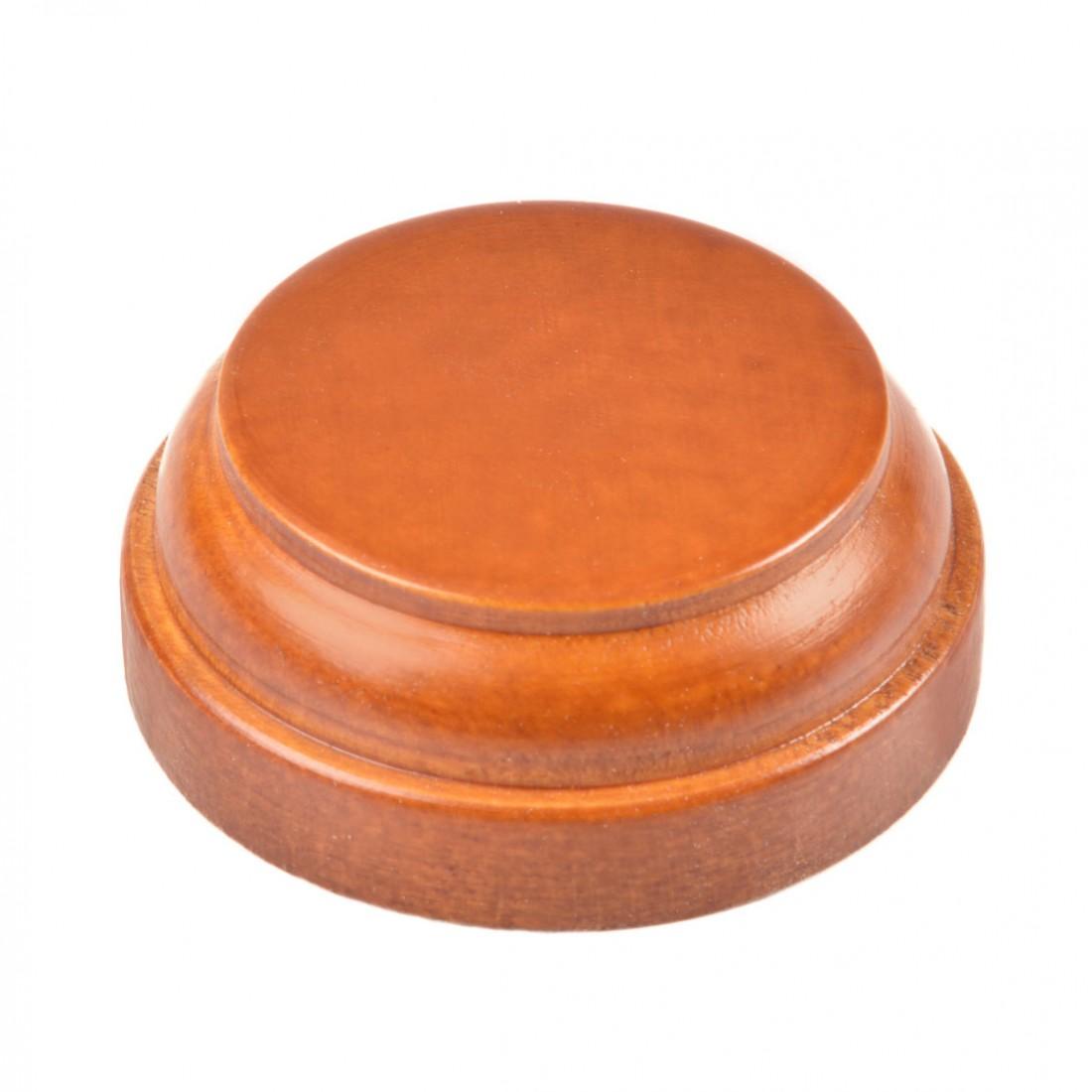 Base redonda de madera mm.50 barnizada.