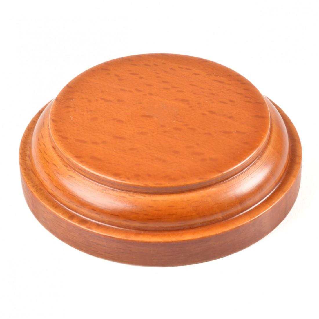 Wooden round base mm.70 varnished