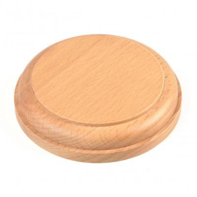 Socle rond bois mm.100 verni
