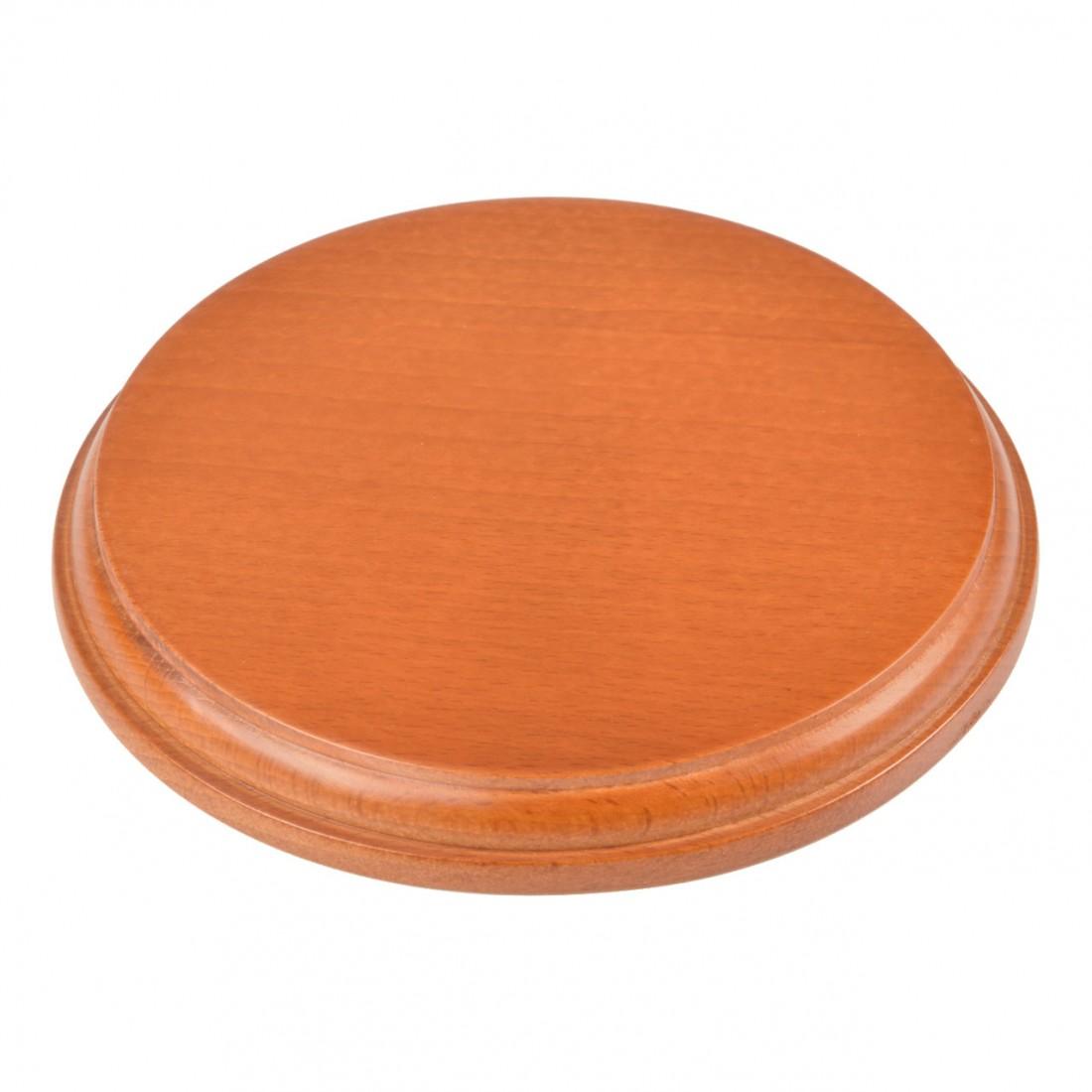 Base redonda de madera mm.160 barnizada.