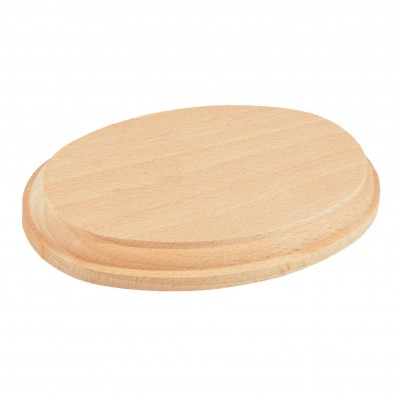Base ovalada de madera...