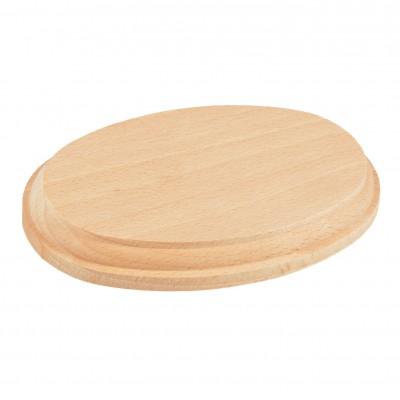 Socle ovale bois mm.160x100x20
