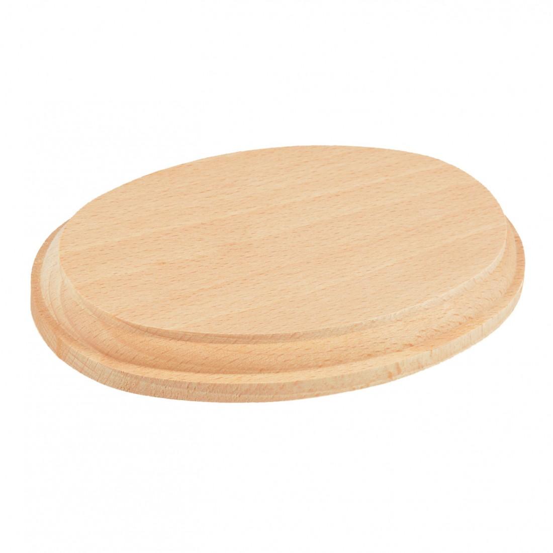 Base ovalada de madera natural mm.160x100x20