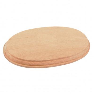 Natural wood oval base...