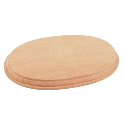 Natural wood oval base...