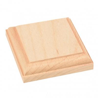 Natural wood base mm.80x80