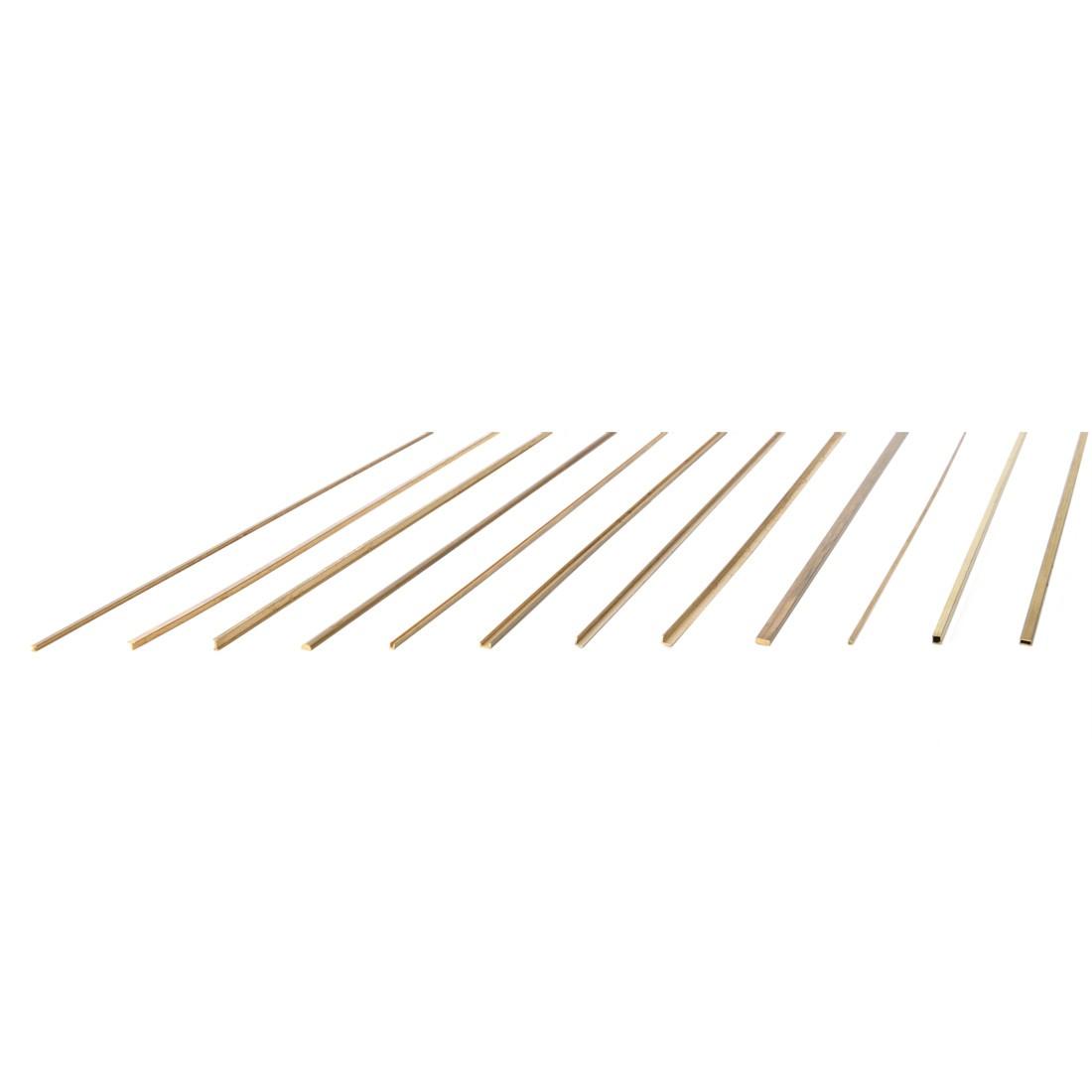 Microprofilati Semitondi Ottone mm. 2x4x500