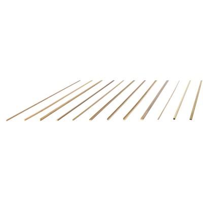 Ángulos de latón 2x2x500