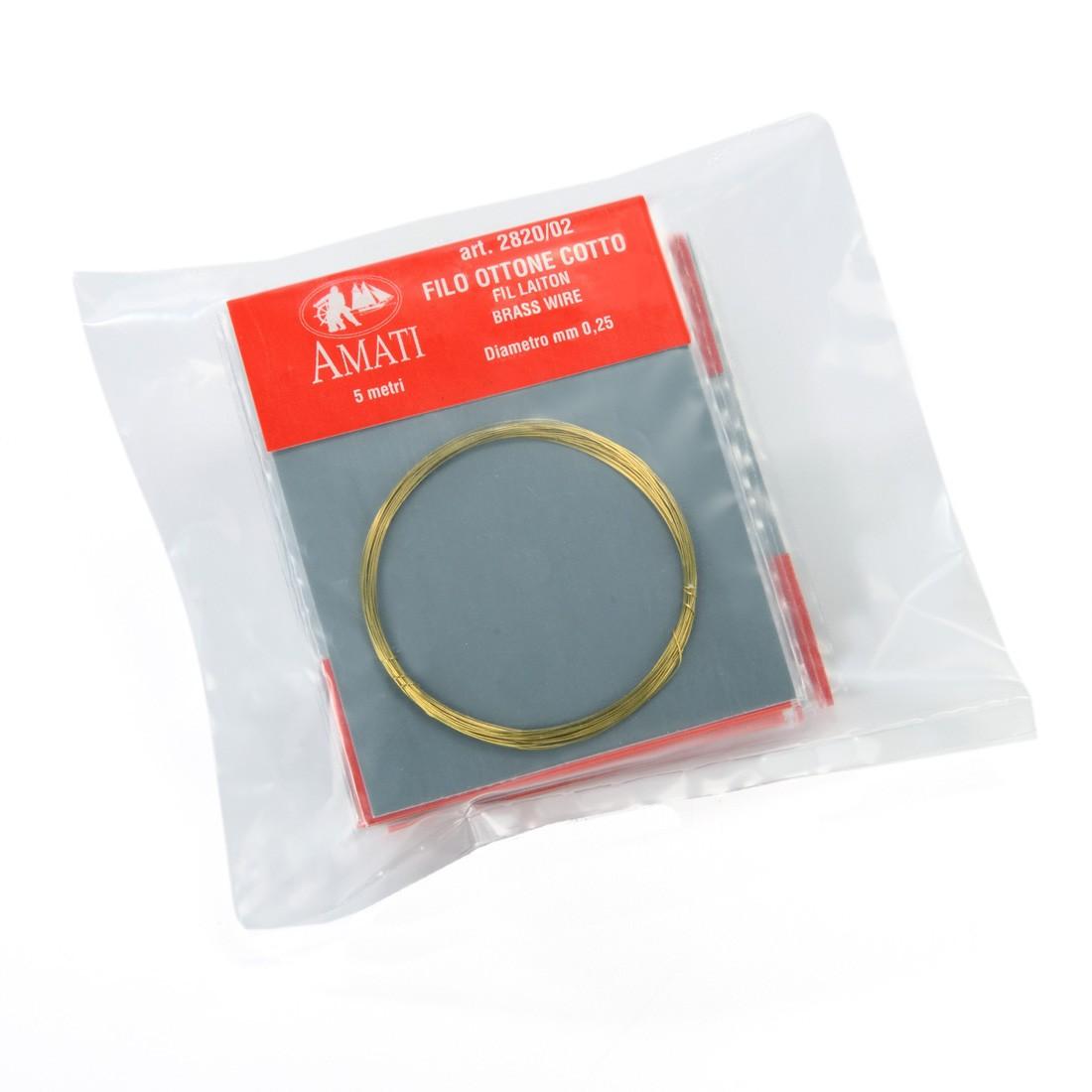 Brass wire mm.0,25