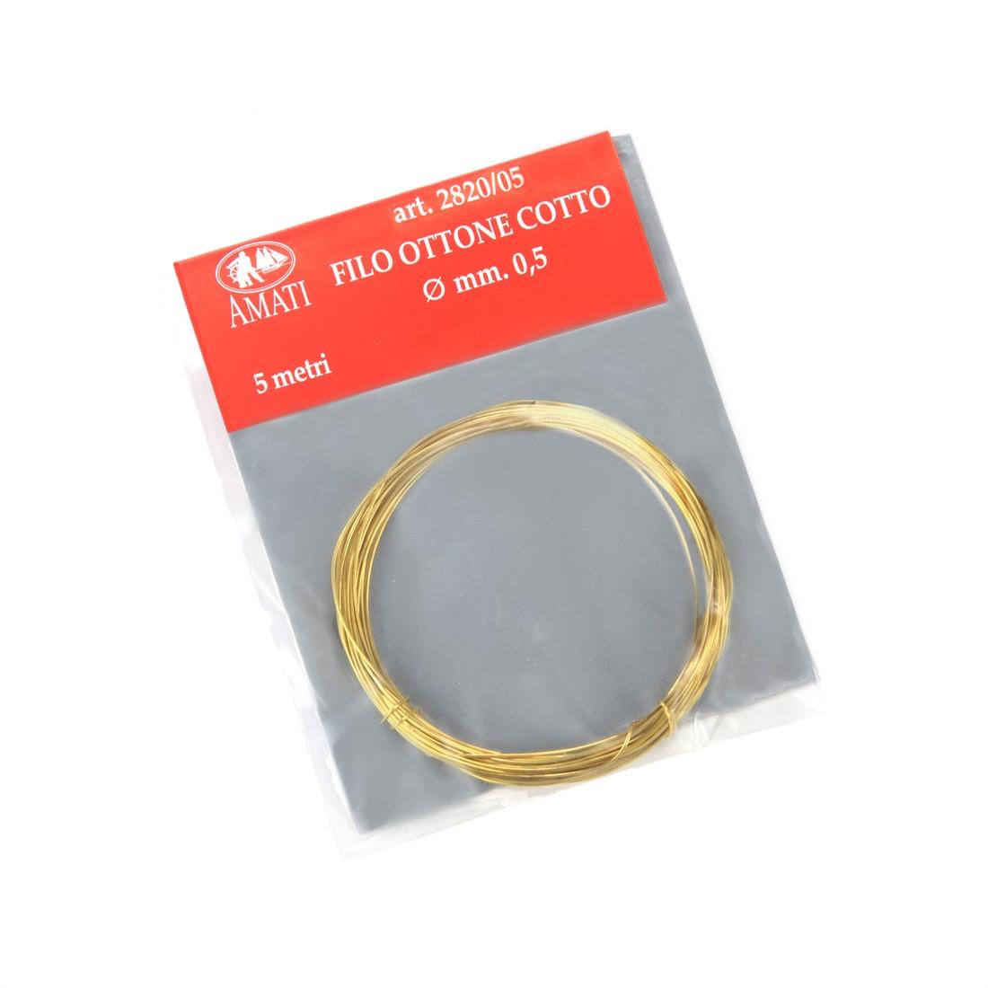Brass wire mm.0,50