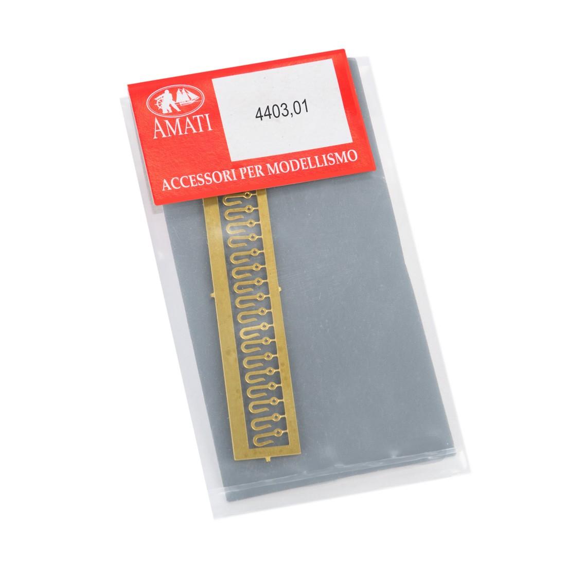 Ganchos de montaje de metal mm.6 (20 uds)