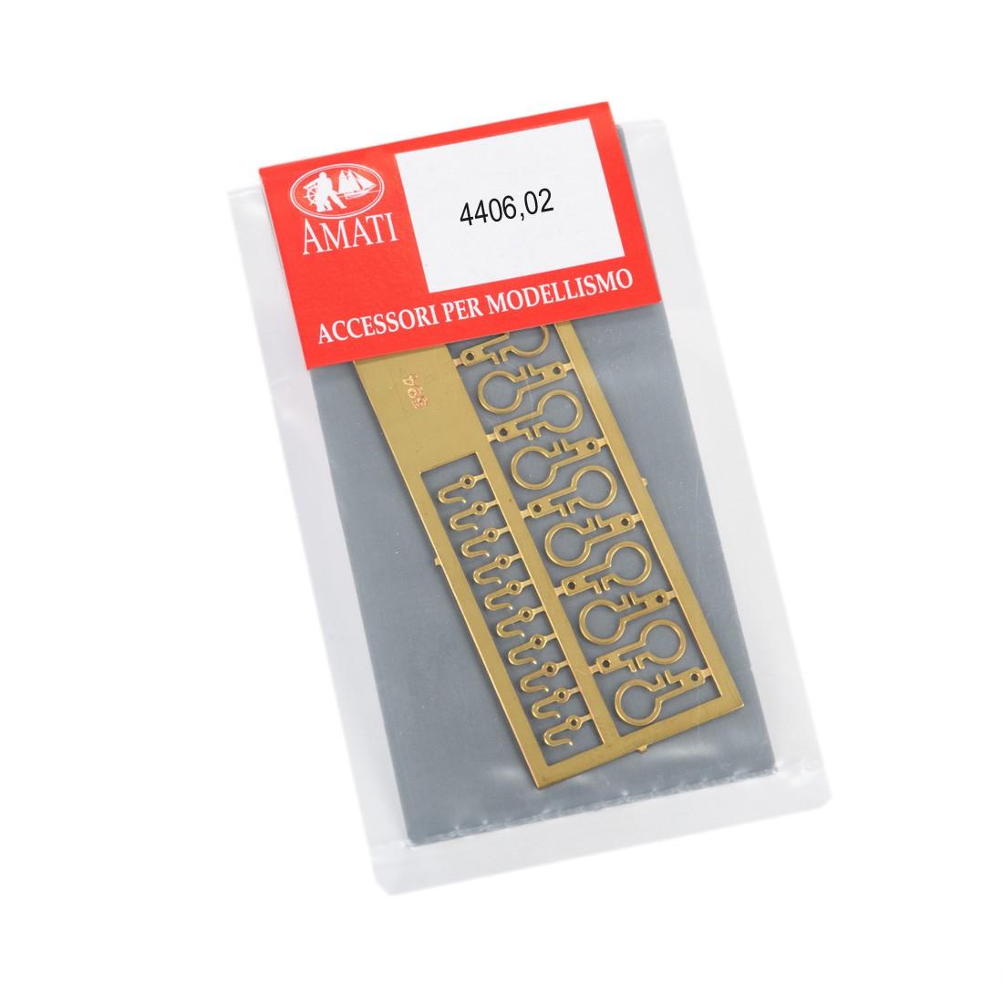Deadeyes metal strops-hooks mm.5