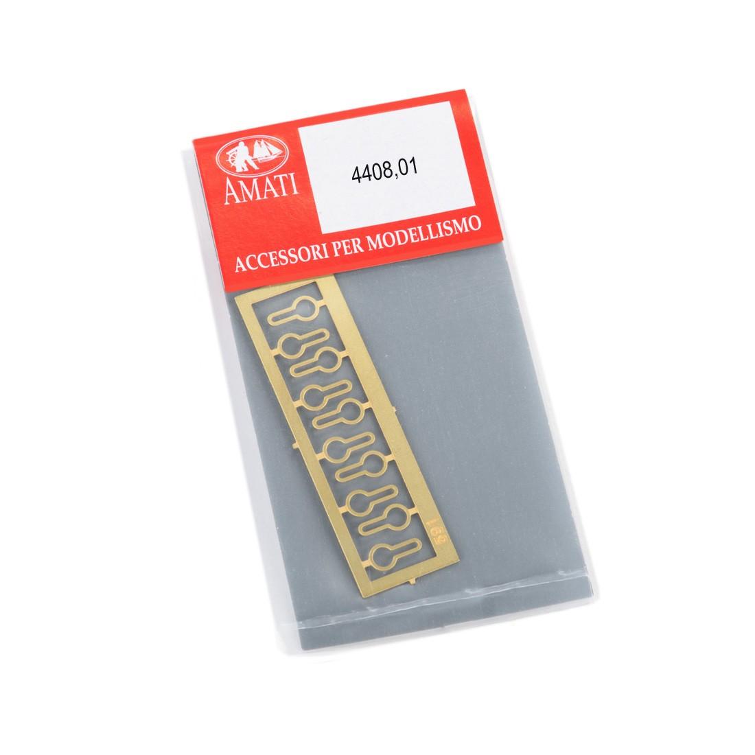 Deadeyes metal strops mm.3