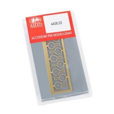Deadeyes metal strops mm.7