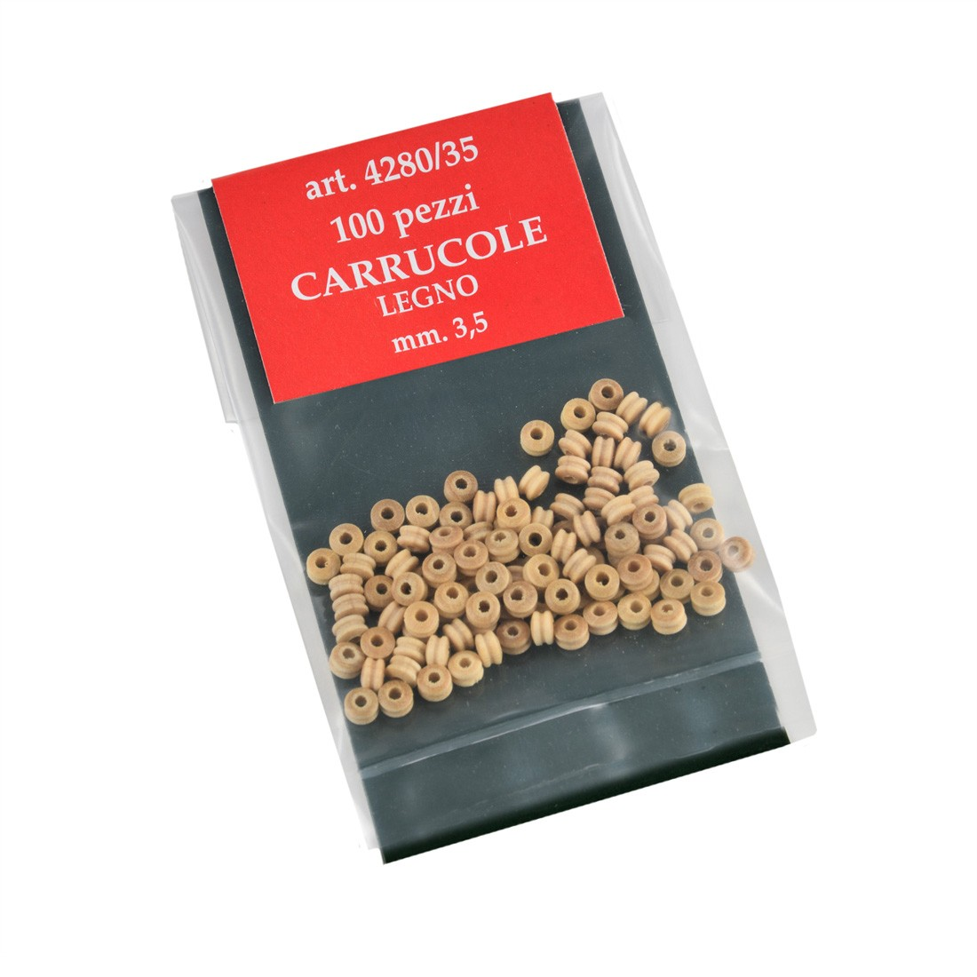 Carrucole bosso mm.3,5