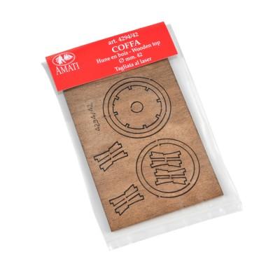 Tapas de madera lasercut