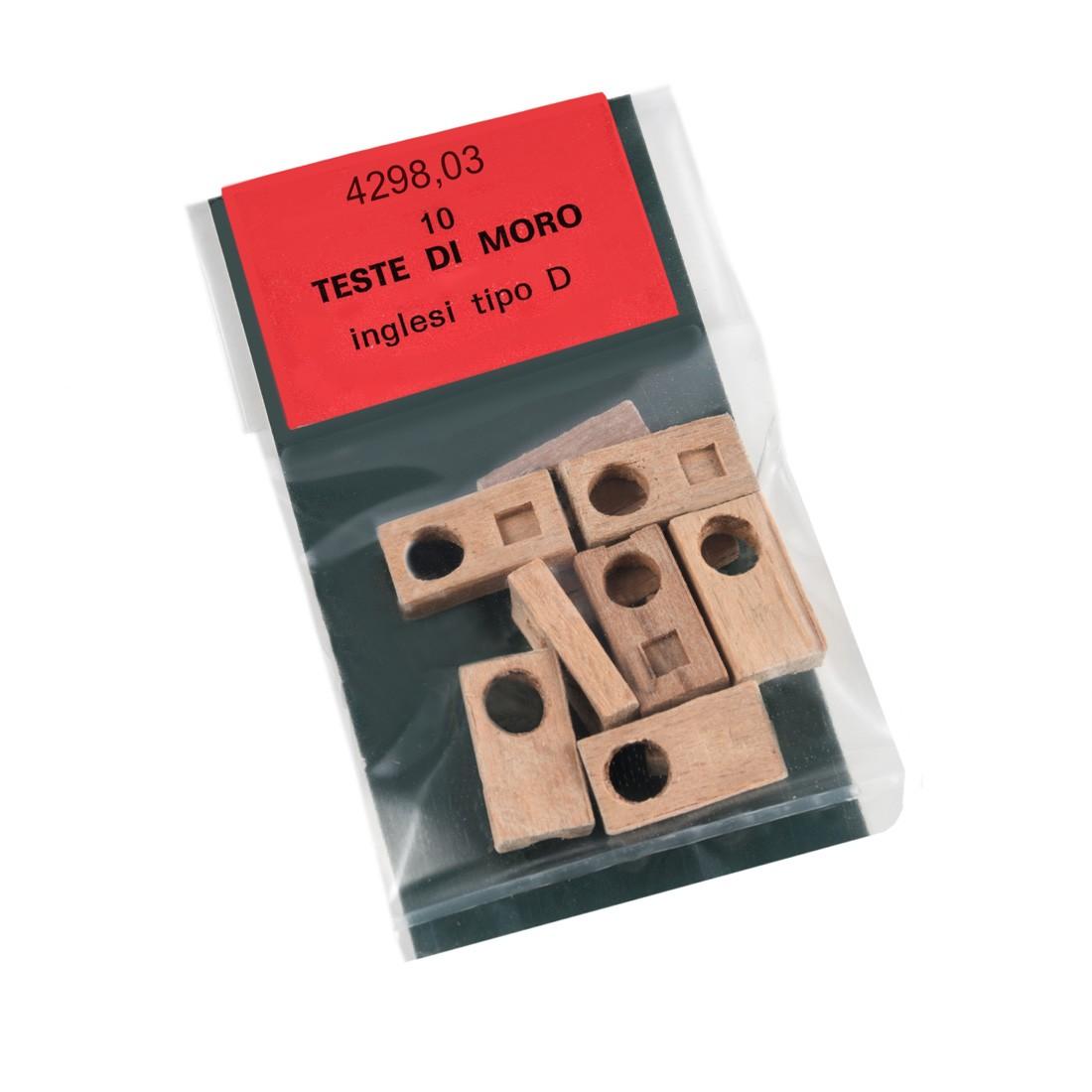 Teste di moro inglesi mm.18x10 tipo D