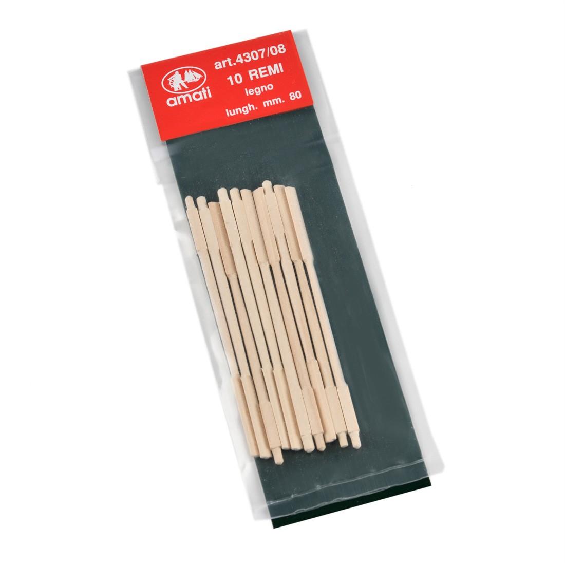 Wooden oars length mm.80