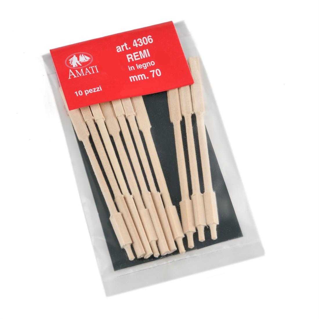 Remos de madera de longitud mm.70