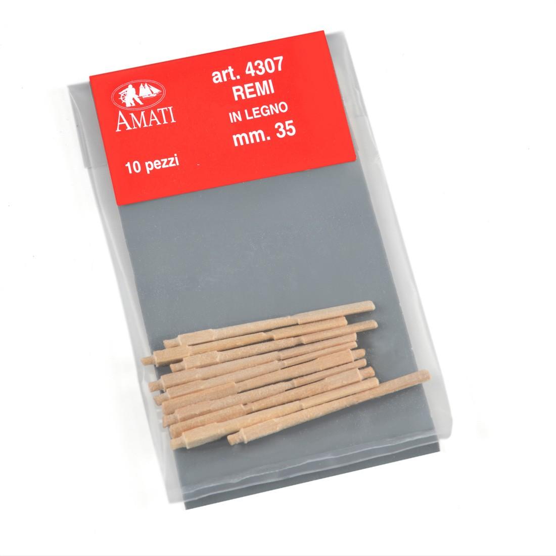 Longitud de remos de madera mm.35