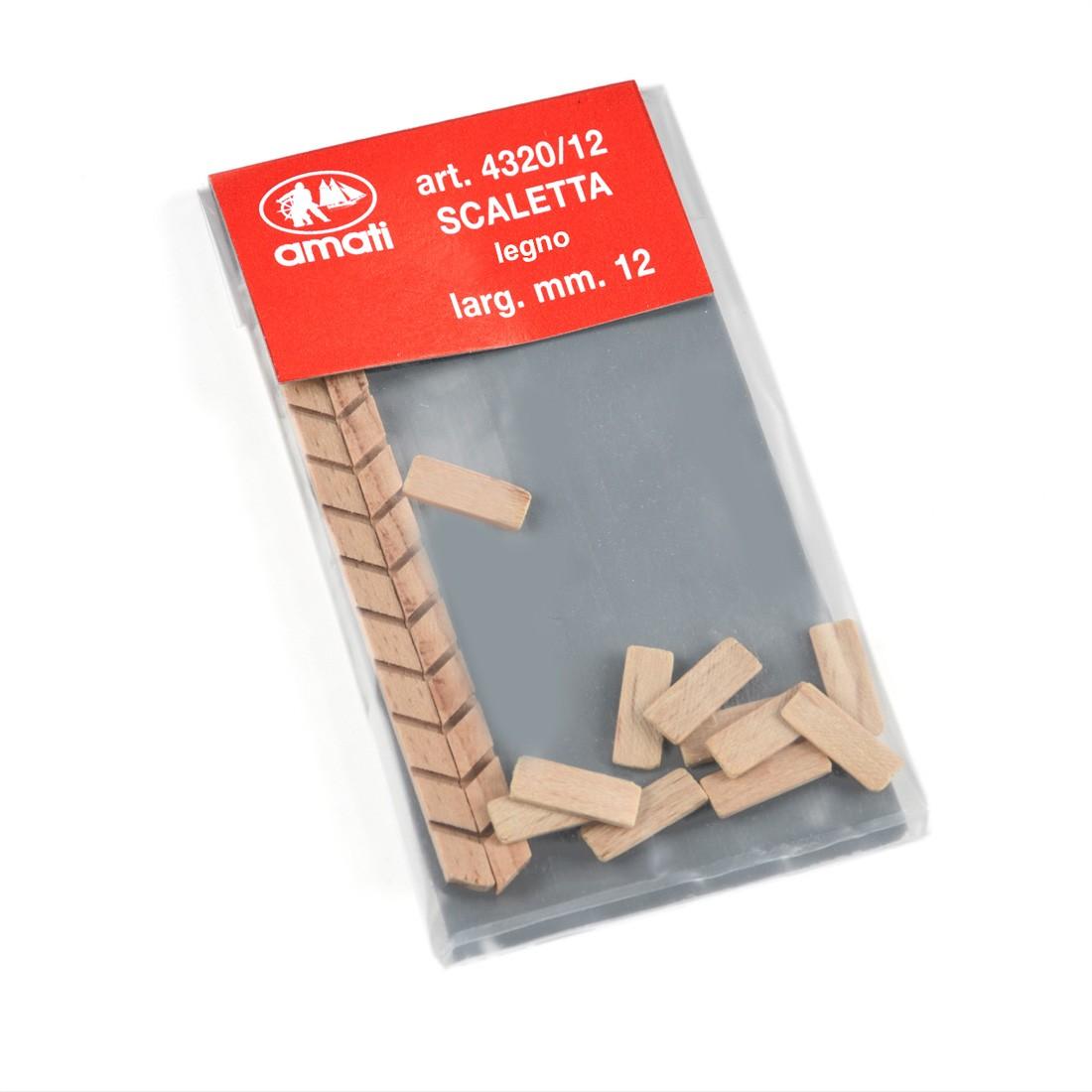 Scalette legno largh.mm.12