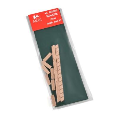 Wooden ladders width mm.15