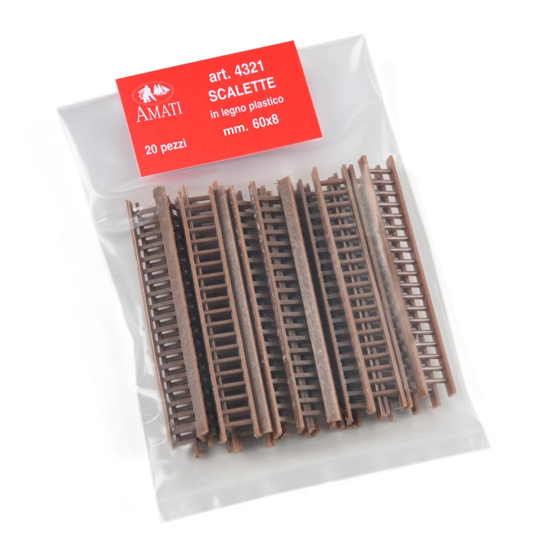 Scalette legno plastico mm. 60x8