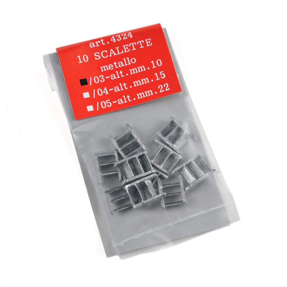 Scalette metallo h.mm.10
