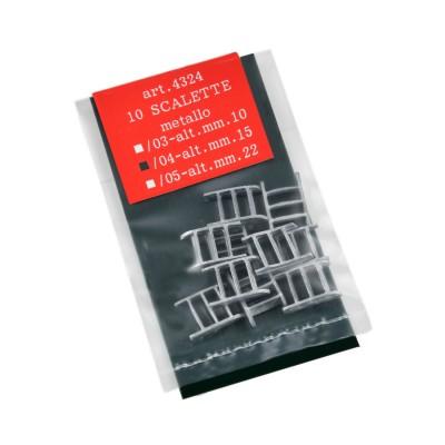 Scalette metallo h.mm.15
