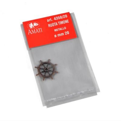Ruote timone metallo mm.20