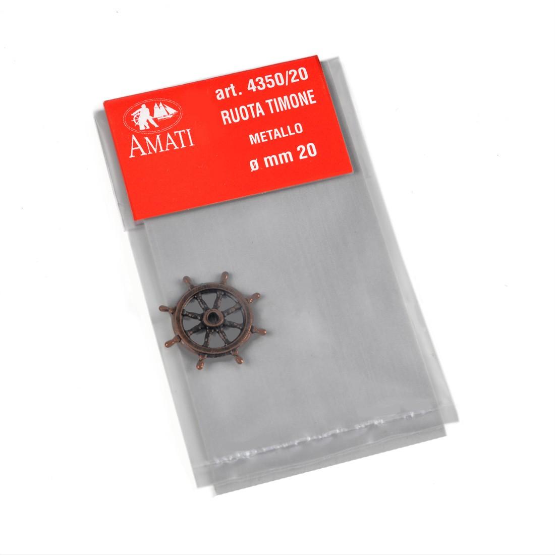 Roues gouvernail métal 20 mm.