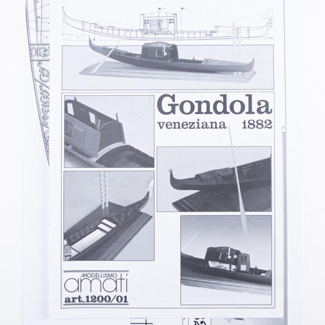 Piano costruzione Gondola Veneziana