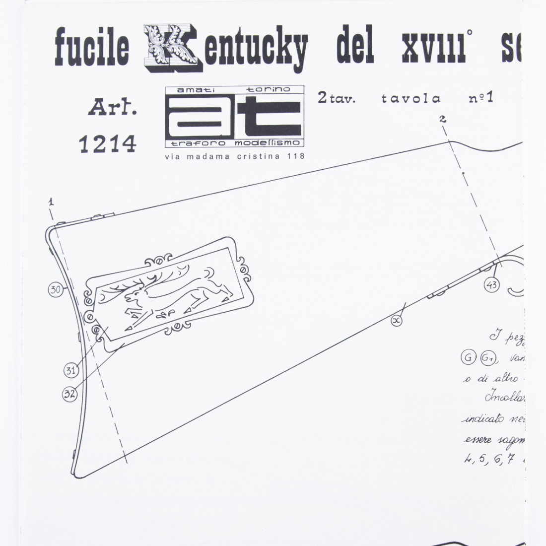 Plan de fusil de Kentucky