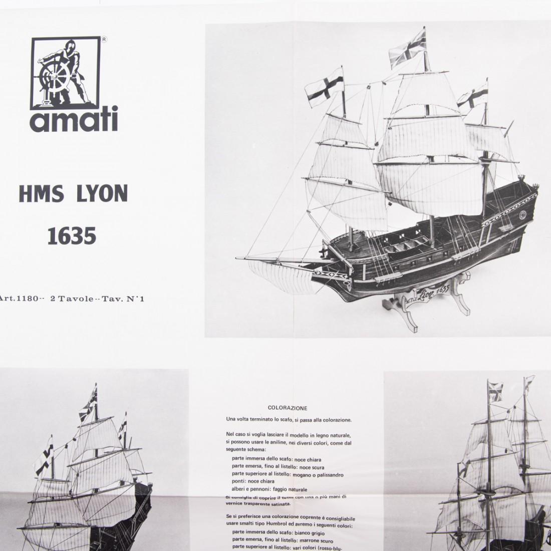 Piano costruzione Lyon - Vascello 1635