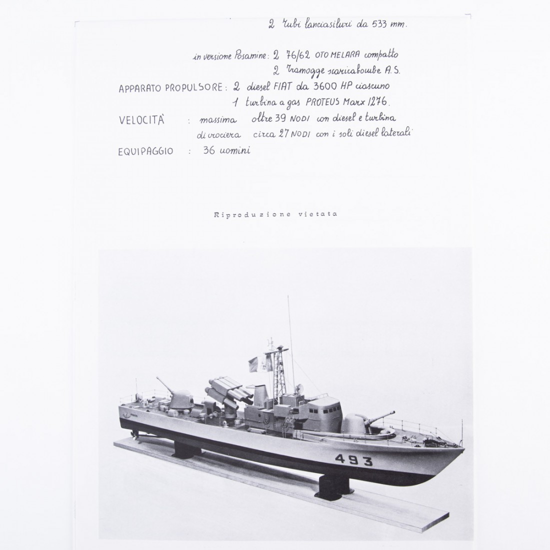 Freccia Motor Gun Boat Plan